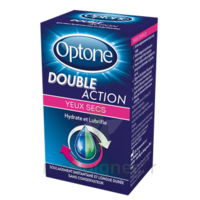 Optone Double Action Solution Oculaire Yeux Secs Fl/10ml à Pradines