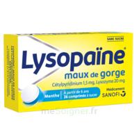 LysopaÏne Comprimés à Sucer Maux De Gorge Sans Sucre 2t/18 à Pradines