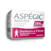 Aspegic Adultes 1000 Mg, Poudre Pour Solution Buvable En Sachet-dose 20 à Pradines