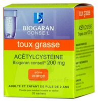 Acetylcysteine Biogaran Conseil 200 Mg Pdr Sol Buv En Sachet B/20 à Pradines