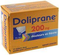 Doliprane 200 Mg Poudre Pour Solution Buvable En Sachet-dose B/12 à Pradines
