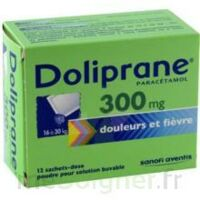 Doliprane 300 Mg Poudre Pour Solution Buvable En Sachet-dose B/12 à Pradines