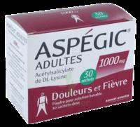 Aspegic Adultes 1000 Mg, Poudre Pour Solution Buvable En Sachet-dose 30 à Pradines