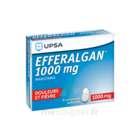 Efferalgan 1000 Mg Comprimés Pelliculés Plq/8 à Pradines