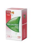 Nicorette 2 Mg Gomme à Mâcher Médicamenteuse Sans Sucre Fruits Plq/105 à Pradines