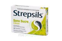Strepsils Citron Sans Sucre, Pastille édulcorée à L'isomalt, Au Maltitol Et à La Saccharine Sodique à Pradines