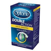 Optone Double Action Solution Oculaire Yeux Irrités Fl/10ml à Pradines