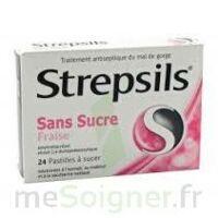 Strepsils Fraise Sans Sucre, Pastille édulcorée à L'isomalt, Au Maltitol Et à La Saccharine Sodique à Pradines