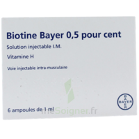Biotine Bayer 0,5 Pour Cent, Solution Injectable I.m. à Pradines