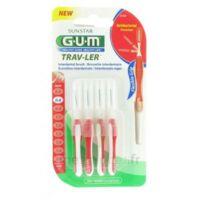 Gum Trav-ler 4 Brossettes Rouge Interdentaires 0.8mm à Pradines