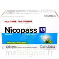 Nicopass 1,5 Mg Pastille Sans Sucre Menthe Fraîcheur Plq/96 à Pradines