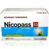 Nicopass 2,5 Mg Pastille Menthe Fraîcheur Sans Sucre Plq/96 à Pradines
