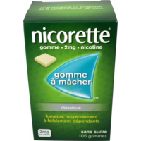Nicorette 2 Mg Gom à Mâcher Médic Sans Sucre Menthe Fraîche Plq/105gom à Pradines