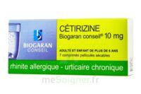 Cetirizine Biogaran Conseil 10 Mg, Comprimé Pelliculé Sécable à Pradines
