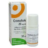 Cromabak 20 Mg/ml, Collyre En Solution à Pradines