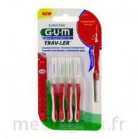 Gum Trav - Ler, 0,8 Mm, Manche Rouge , Blister 4 à Pradines