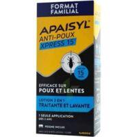 Apaisyl Anti-poux Xpress 15' Lotion Antipoux Et Lente 100ml+peigne à Pradines