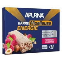 Apurna Barre énergie Noisette Framboise 3*40g à Pradines