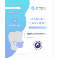 Masque Barrière Non Médical Adulte Blancs B/6 à Pradines