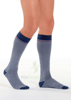 Sigvaris Styles Motifs Mariniere Chaussettes  Homme Classe 2 Marine Blanc Small Normal à Pradines